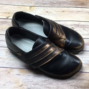 NAOT Shoes Distressed Leather Clogs